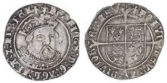 Henry VIII (1509-1547) 3rd Coinage Groat (1544-47)