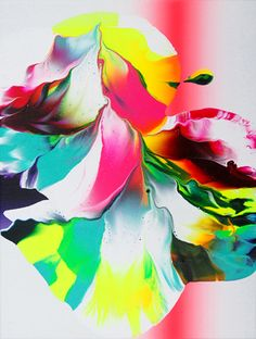 Colorful splashes and swirls for places to rest the eyes between content. Yago Hortal – Paintings