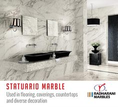 Statuario Marble available with us in stock. #Marbles #MarbleKolkata