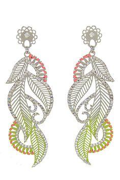 LK Big Leaf Neon Earrings