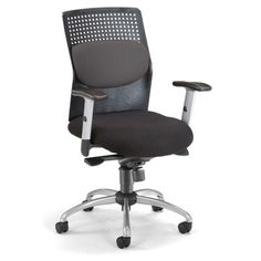 OFM AirFlo Back Series Executive Chair with Brushed Metal Accents & Reviews | Wayfair Supply