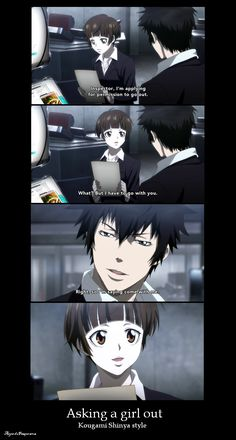 pick up line Kougami Shinya style by Freaqoe.deviantart.com on @deviantART