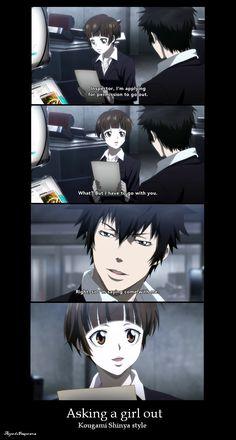 pick up line Kougami Shinya style by Freaqoe.deviantart.com on @deviantART