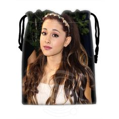 H-P605 Custom Ariana Grande #2 drawstring bags for mobile phone tablet PC packaging Gift Bags18X22cm SQ00806#H0605 #Affiliate