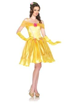 Leg Avenue Disney Princess Belle Costume Dress Yellow Medium *** Check this awesome product by going to the link at the image.