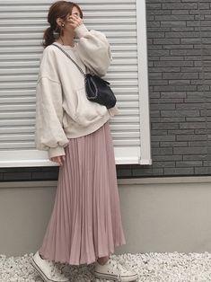 Korean Girl Fashion, Ulzzang Fashion, Muslim Fashion, Asian Fashion, Hijab Fashion, Fashion Outfits, 70s Fashion, Womens Fashion, Cute Skirt Outfits
