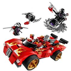 2016 New BELA Building Blocks X-1 Ninja Kai Charger Activate Interceptor Toy Set Figures Compatible with 70727