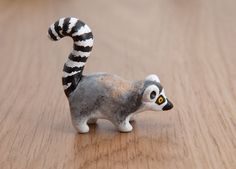 The ring-tailed lemur animal totem - Polymer clay animal OOAK figurine by LifedanceCreations on Etsy https://www.etsy.com/listing/246126104/the-ring-tailed-lemur-animal-totem