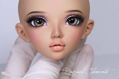 Finished faceup, minifee Chloé (tan skin) for Jamie. - #bjd #bjddoll #doll…