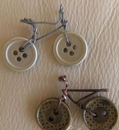 Neat idea—bicyle art created from buttons❣ Elizabeth Berdis - lc.pandahall.com