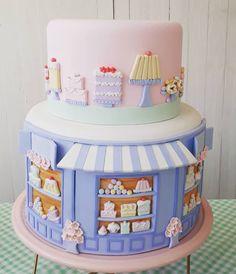 shakeo mug cake Bolo Fondant, Fondant Cakes, Cupcake Cakes, Beautiful Cake Designs, Beautiful Cakes, Amazing Cakes, Pretty Cakes, Cute Cakes, Chef Cake