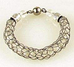 French Knitting Bracelet - intriguing!