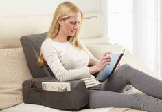 A warming backrest pillow to use when you're reading (or watching Netflix) in bed.