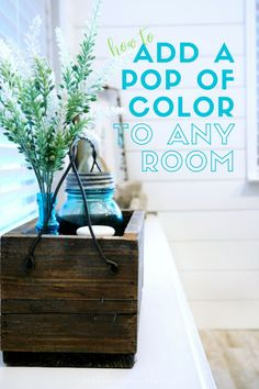 How to Add a Pop of Color to Any Room – Chic Home Office Design Budget Home Decorating, Small House Decorating, Decorating Ideas, Shabby Chic Vintage, Shabby Chic Decor, Office Wall Design, Neutral Walls, Small Room Design, Do It Yourself Home