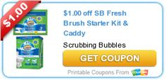 $1.00 off SB Fresh Brush Starter Kit & Caddy