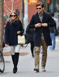 Olivia Palermo's Over-the-Knee Boots and Winter Coat