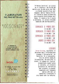 Da Marzo il Laboratorio di Scienze  per ragazzi! #iocistolibreria #lalibreriaditutti #bambini #laboratori #scienze #attività #napoli  www.iocistolibreria.it