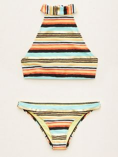 5 Swimwear Trends to Try This Summer | People - American Eagle high-neck halter bikini