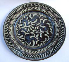 Six ferns, six Phoenixes in the shadows The Shadow Side, County Mayo, Ceramic Artists, Ferns, Stoneware, Wax, Plates, Ceramics, Tableware