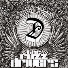 CD cover design for debut album by The Fuzz Drivers (thefuzzdrivers.com)