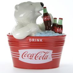 Christmas Cookie Jars, Coca Cola Christmas, Teapot Cookies, Bear Cookies, Coke Machine, Coca Cola Kitchen, Cocoa Cola, Coca Cola Polar Bear, Always Coca Cola