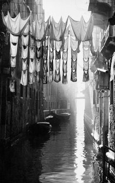 Vittorio Piergiovanni, Canal, 1955 ::: #Photography #Photo #OldPhotography #BlackAndWhitePhotography