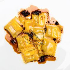 Épaulettes ravioli with braised rabbit and reblochon at @VaucluseNYC. @pete_wells's review is through our profile. (Photo: @BrentHerrig) by nytfood