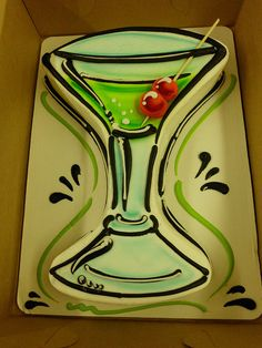 Martini Cake by The Cake Company of Canyon, my birthday cake? Birthday Cake Martini, Martini Cake, Cocktail Cake, 21st Birthday Cakes, Martini Party, 21 Birthday, Birthday Ideas, Pull Apart Cupcake Cake, Pull Apart Cake