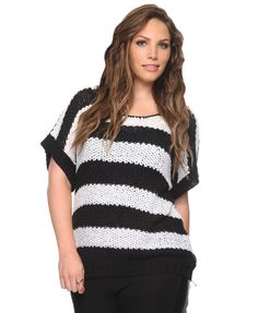 Striped Button Back Top | FOREVER21 PLUS - 2000035292