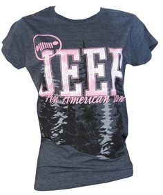"All Things Jeep - Women's Junior Cut ""Jeep�, An American Icon"" Heather Grey Shirt"