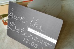 love the idea of a postcard and simplicity of this save the date