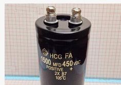 Promotion The Free shipping Aluminum electrolytic capacitor 450V 1500uf 450V Musicalnote Capacitor 450V 1500MFD 450VDC 50*120mm