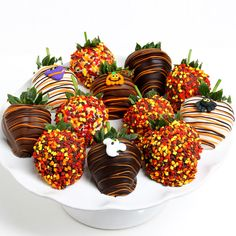 Halloween Strawberries by GourmetGiftBaskets.com