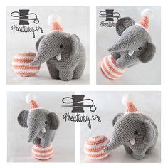 český návod na háčkovaného slona