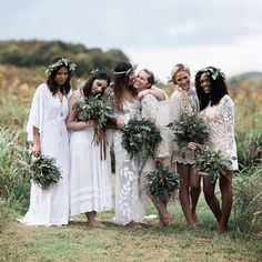 "3,091 Likes, 84 Comments - Green Wedding Shoes / Jen (@greenweddingshoes) on Instagram: ""The bride (@hazelandscout) wore @ruedeseinebridal and the bridesmaids all in @freepeople -- totally…"""