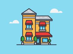 Small Hotel Royal designed by Scott Tusk. Connect with them on Dribbble; Outline Illustration, Simple Illustration, Graphic Design Illustration, Cartoon Drawings, Cute Drawings, Cartoon Building, Fun Educational Games, Simple Cartoon, Cute Clipart