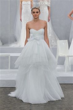 2015 Beautiful Tulle Wedding Ball Gown with Sweetheart Neckline, Ruched Fitted Bodice with Natural Waist and Detachable Bow, Gathered Tiered Tulle Ball Gown Skirt, Chapel Train, Back Hidden Zipper Closure. #customweddingdress #custombridal #dreamgown #dreamdress #designerweddingdress #designergown #tulleweddingdress #tullewedding #destinationwedding #beachwedding #sayyestothedress #couture #fashion #dress #2015weddingdress