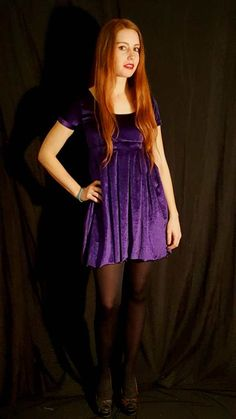 A purple velvet skater dress in South Africa for myself, and a tale of my first foray into the world of sewing with velvet. Velvet Skater Dress, Skater Skirt, Dr Frankenstein, Happy New Home, Purple Velvet, Box Pleats, Big Black, Photoshoot, Studio
