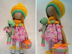 Handmade doll Art doll Pink doll Tilda doll por AnnKirillartPlace