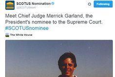 White House launches Twitter handle to introduce Obama's #SCOTUS nominee: Many Americans watched the president's nomination of Merrick Garland on TV. Others followed the decision on social media. Here's how account managers chose to engage.