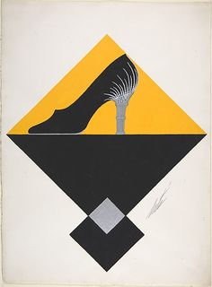Shoe Design for Delman's Shoes, New York by Erté (Romain de Tirtoff), c.1934
