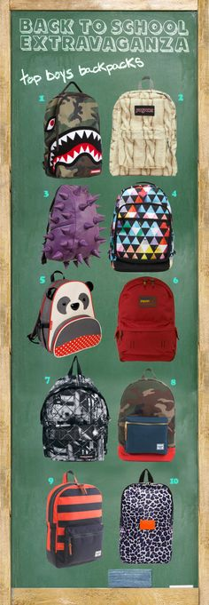 Back to School Extravaganza - Top Boys Backpacks www.supergoodybag.com