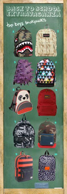 Back to School Extravaganza - Top Boys Backpacks www.supergoodybag.com