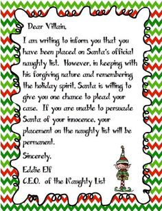 Dear Santa ... I Can Explain: Persuasive writing as a villain writing to Santa to be removed from the Naughty list