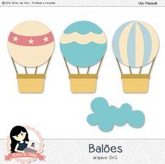 Arquivo de Recorte Balões by Vika Matos - R$3,00 : Boutique do Scrap