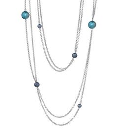 Look at this Silver & Blue Roaring '20s Necklace on #zulily today!