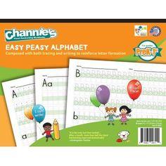Channie's Easy Peasy Handwriting Alphabet Workbook For PreK-1st Grade