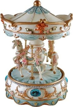 Finely Crafted Musical Carousels, Carousels of Distinction, Musical Merry Go Rounds from N J Dean & Co, Luxury Keepsake Gifts, Music Gifts Carousel Musical, Carousel Cake, Carousel Horses, Merry Go Round, Gold Highlights, Music Gifts, Vintage Music, Vintage Toys, Trinket Boxes