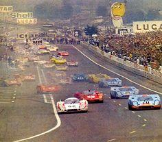 1970 Le Mans start