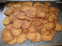 Karamellkaker (Norwegian Caramel Cookies) ~ I have been searching for these for years. My grandmother used to make these. UPDATE ~ these have become the most popular recipe of which guests request copy when visiting our home! Pavlova, Most Popular Recipes, Favorite Recipes, Norway Food, Swedish Recipes, Norwegian Recipes, Norwegian Christmas, Lace Cookies, Norwegian Food